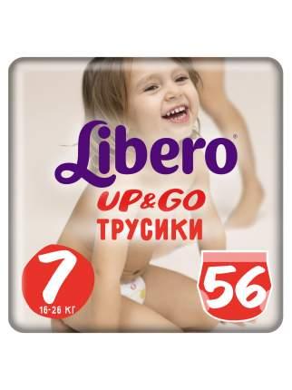 Подгузники-трусики Libero Up&Go Size 7 (16-26кг), 56 шт.
