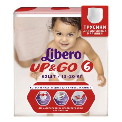 Подгузники-трусики Libero Up&Go Size 6 (13-20кг), 62 шт.
