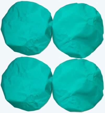 Чехлы на колеса коляски Чудо-Чадо цв. зеленый, D 18-23 см, 4 шт.