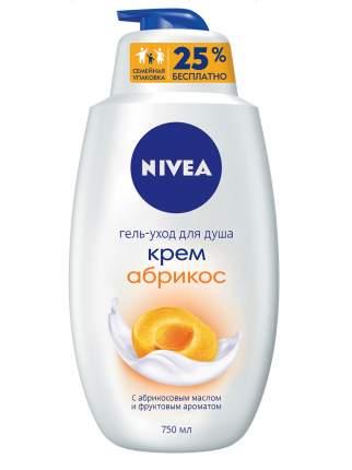 Гель для душа Nivea Крем абрикос 750 мл