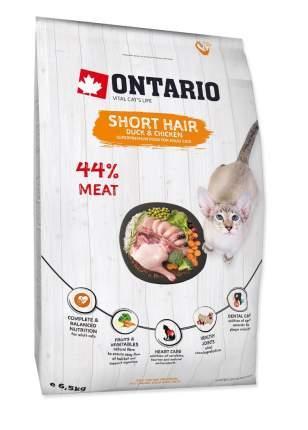 Сухой корм для кошек Ontario Short hair, утка, курица,  6.5кг