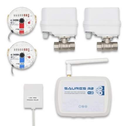 """Система учета ресурсов и защиты от протечек Saures Акваконтроль Wi-Fi Квартира 1/2"""""""