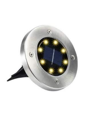 Светильник-диск EPECOLED теплый белый (на солнечной батарее, 8LED) - комплект 4 штуки