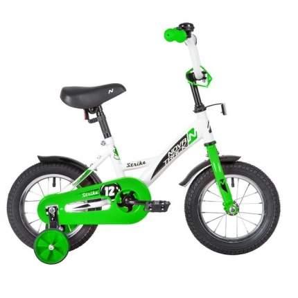 """Велосипед Novatrack """"Strike"""" (цвет: бело-зеленый, 14"""")"""