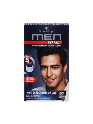 Краска для волос Men Perfect 90 натуральный Черный, тонирующий гель против седины, 80 мл
