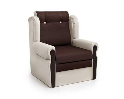 Кресло-раскладушка Классика М экокожа беж и рогожка