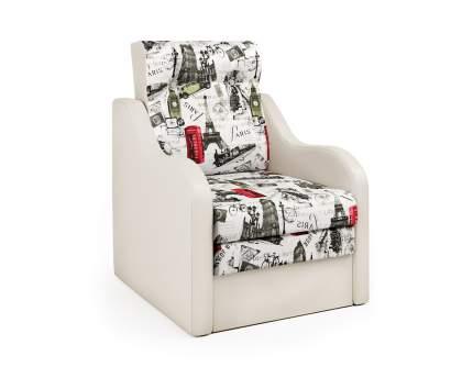 Кресло-раскладушка Классика В экокожа беж и велюр