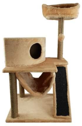 Комплекс для кошек Syndicate, бежевый, 4 уровня, мех, джут, поролон