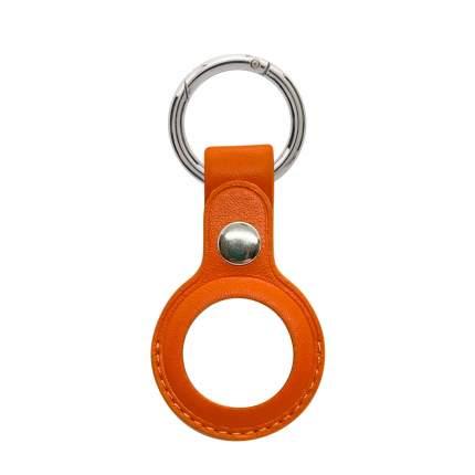 Брелок кожаный с карабином для AirTag, Оранжевый, iGrape