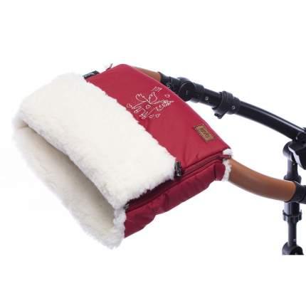 Муфта меховая для коляски Nuovita Islanda Bianco бордовый