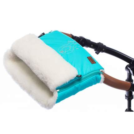 Муфта меховая для коляски Nuovita Islanda Bianco голубой