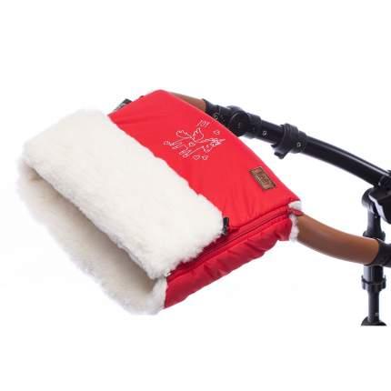 Муфта меховая для коляски Nuovita Islanda Bianco красный