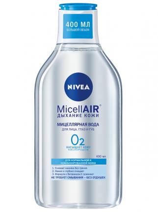 Мицеллярная вода NIVEA Освежающая 3в1 для нормальной и комбинированной кожи 400 мл