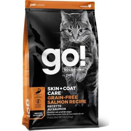 Сухой корм для кошек и котят GO! SKIN+COAT Grain Free, беззерновой, лосось, 7,26кг