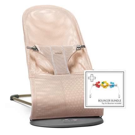 Детский шезлонг с игрушкой BabyBjorn Balance Bliss жемчужно-розовый