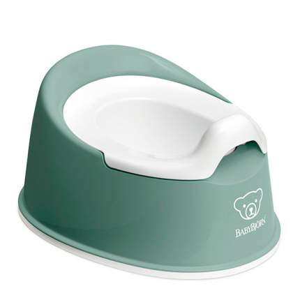 Горшок детский BabyBjorn Smart Potty анатомический брызгостойкий зеленый