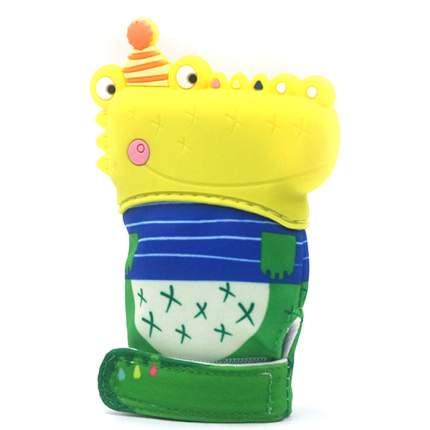 Детская рукавичка-прорезыватель Крокодил цвет желтый BF-TEETOY-07