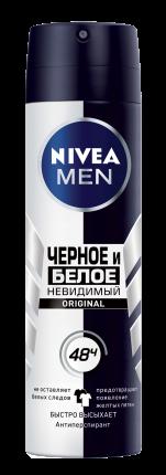 Дезодорант NIVEA for Men Невидимый для черного и белого 150 мл