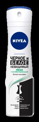 Антиперспирант Nivea Fresh Невидимая защита черного и белого 150 мл