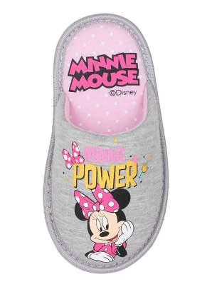 Тапочки детские Minnie Mouse, цв. серый р.23
