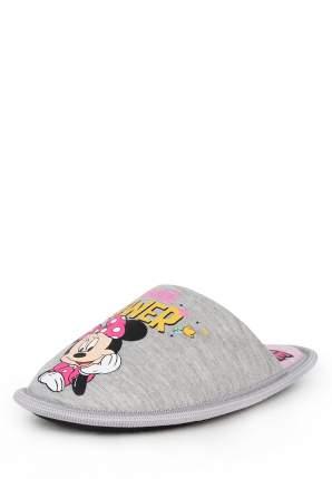 Тапочки детские Minnie Mouse, цв. серый р.25