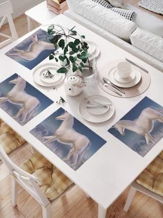 Комплект салфеток для сервировки стола «Лунный единорог» (32х46 см, 4 шт.)
