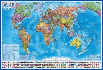 Интерактивная карта Мир Политический 1:28М (с ламинацией в тубусе), НК046