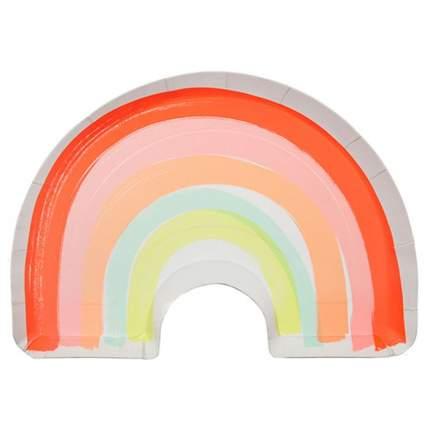 Набор тарелок Meri Meri Радуга в форме радуги большие 12 шт