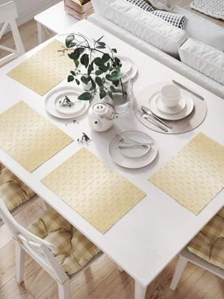 Комплект салфеток для сервировки стола «Круговые прикосновения» (32х46 см, 4 шт.)