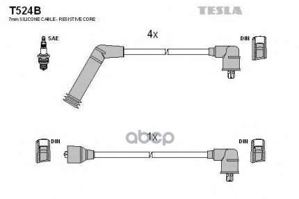 Комплект Проводов Зажигания TESLA T524B