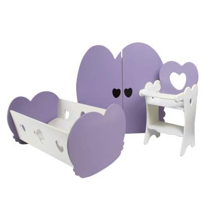 Набор кукольной мебели PAREMO PFD120-22 3 предмета, нежно-сиреневый