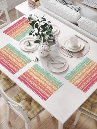 Салфетки для сервировки стола «Горизонтальные полосы со стрелами» (32х46 см, 4 шт.)