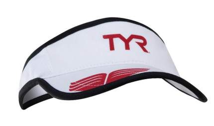 Кепка-козырек TYR Running Visor, цвет 100 (White)