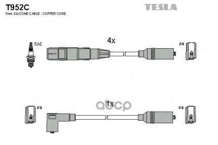 Комплект Проводов Зажигания TESLA T952C
