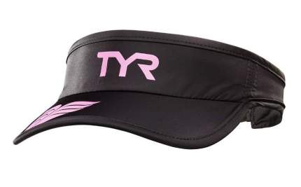 Кепка-козырек TYR Running Visor, цвет 121 (Black/Pink)
