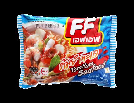 Лапша FF быстрого приготовления со вкусом тайского супа Tom Yum c морепродуктами 60 г