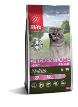 Сухой корм для кошек BLITZ ADULT CAT CHICKEN & LAMB курица и ягненок, 0,4 кг