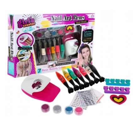 Детский маникюрный набор wellywell с лампой для ногтей Nail_Art_Pens