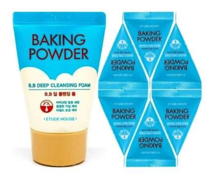 Скраб для лица ETUDE HOUSE 6 шт + Пенка для умывания Baking Powder BB Deep 30 мл
