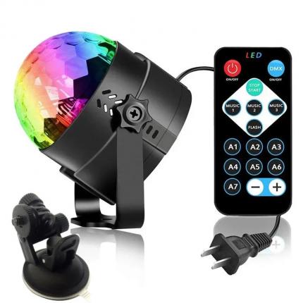 Светодиодный LED диско шар с дистанционным управлением