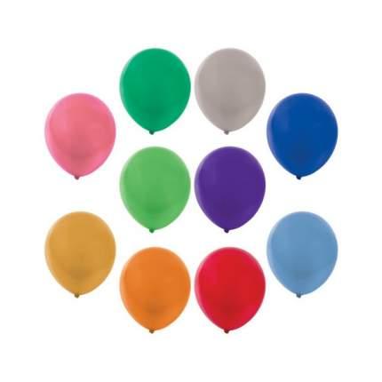 """Шары воздушные """"Золотая сказка"""", 12"""" (30 см), 50 штук, металлик, ассорти 10 цветов"""