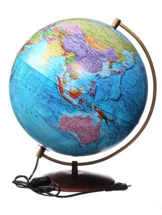 Интерактивный глобус Globen Земли на подставке из натурального дерева с подсветкой,