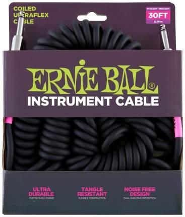 Кабель инструментальный Ernie Ball 6044 9 метров черный