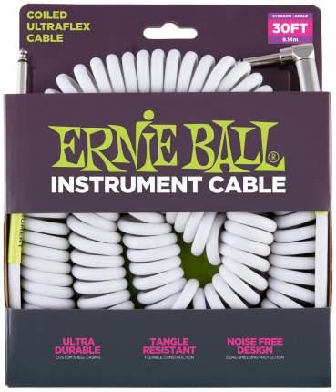 Кабель инструментальный Ernie Ball 6045 9 метров белый