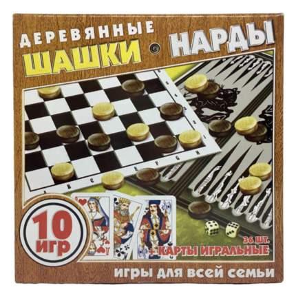 Игра Шашки, нарды, игральные карты 2282/2288/задира