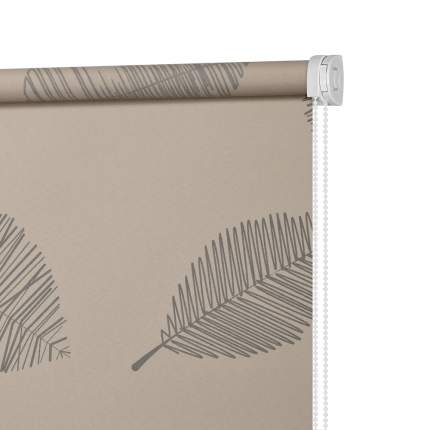 Рулонная штора Decofest Миниролл Принт Листья 40x160 160x40 см
