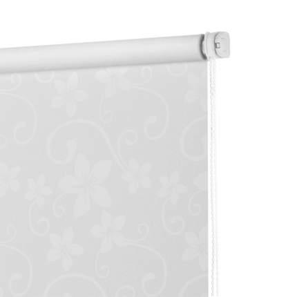 Рулонная штора Decofest Миниролл бернаут Цветы Белый 70x160 160x70 см