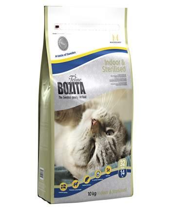 Сухой корм для кошек BOZITA Indoor&Sterilized для живущих дома и стерилизованных, 10кг