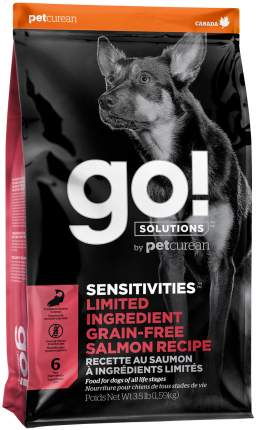 Сухой корм для собак GO! Sensitivities Limited Ingredient, беззерновой, с лососем, 9,98кг