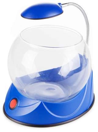 Аквариум Hailea круглый голубой 2,5 л